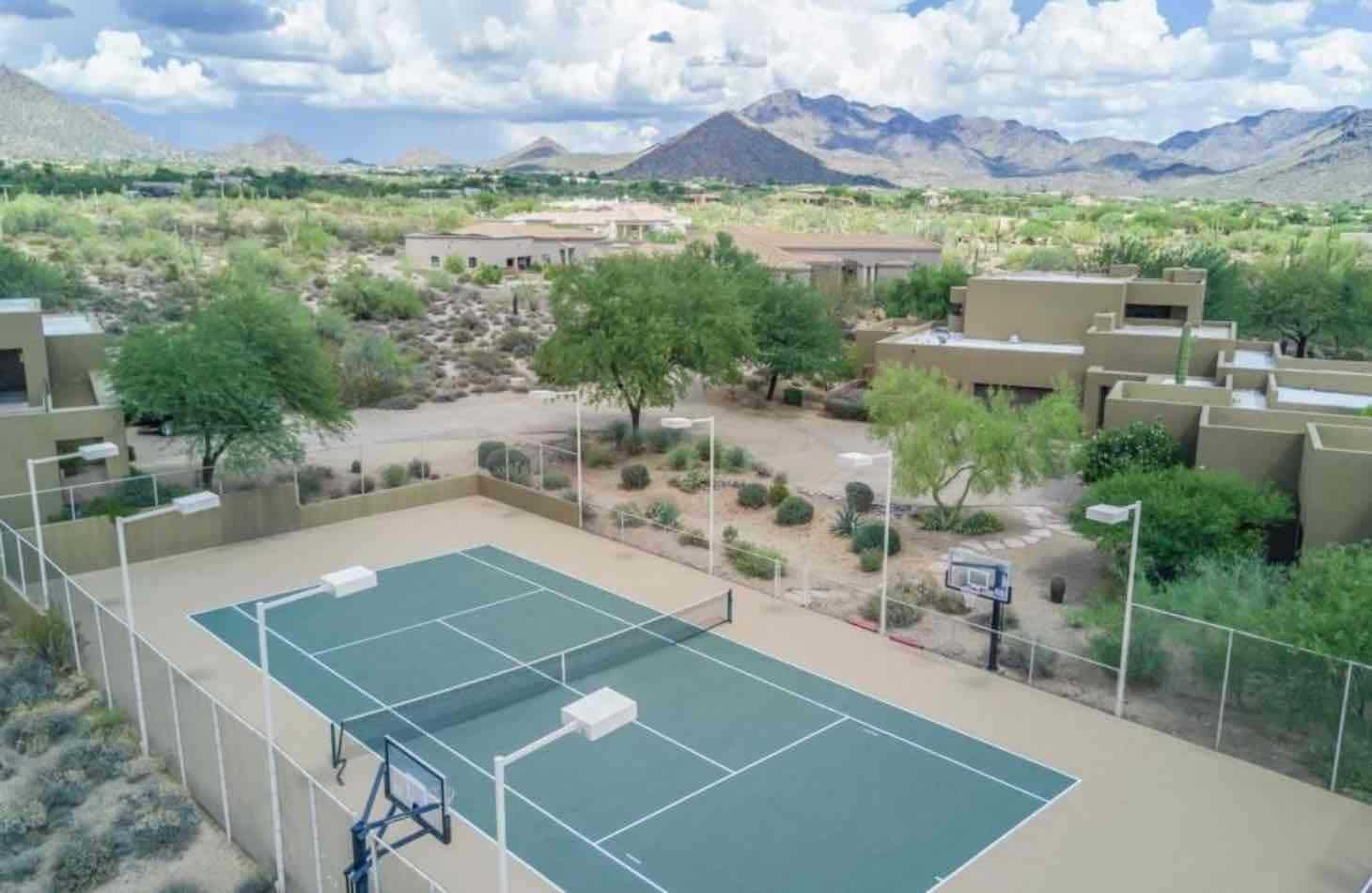 Sport court available to all clients receiving addiction treatment at the hope house vereda solana mansion