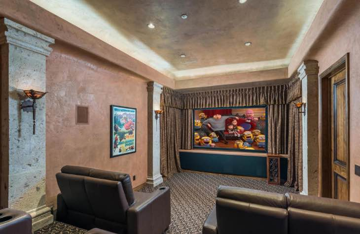 Movie Theater Inside The Hope House Scottsdale Rehab