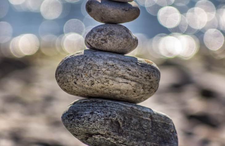 Stack Of Rock To Symbolize Serenity Following Detox From Alcohol