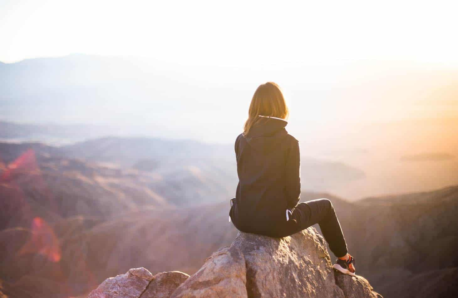 Woman On Mountains After Alcohol Withdrawal