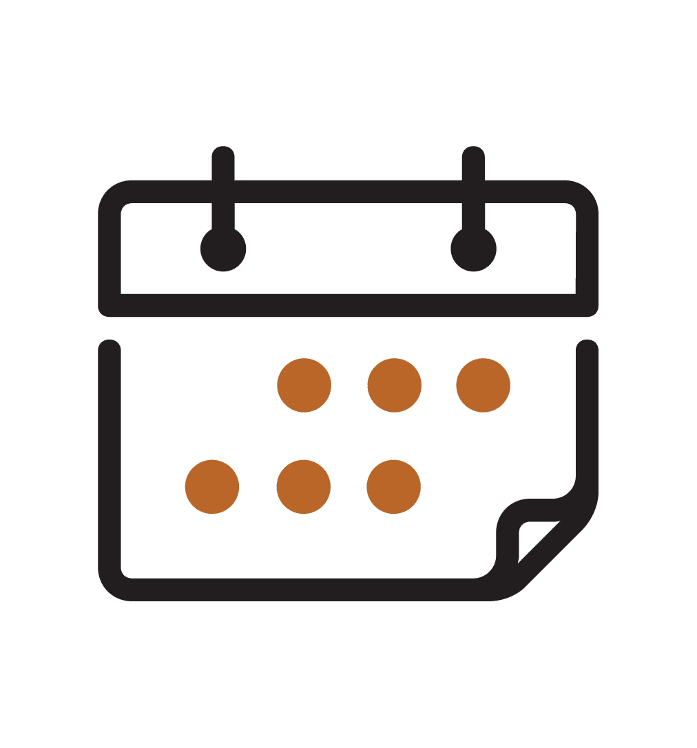 A Calendar Icon Indicating Schedules